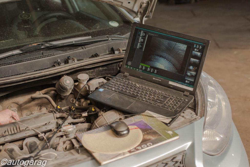 Диагностика двигателя видеоэндоскопом
