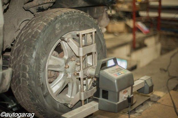 оценка люфта колес