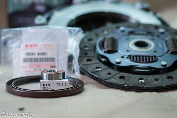 Проведение работ по замене комплекта сцепления на SX4 (Fiat Sedici)
