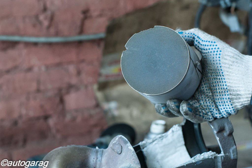 Удаление катализатора установка пламегасителя